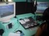 Estúdio da 104,9 FM em itá 2009