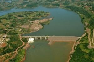 Vista aérea da Usina Hidrelétrica de Chapecó
